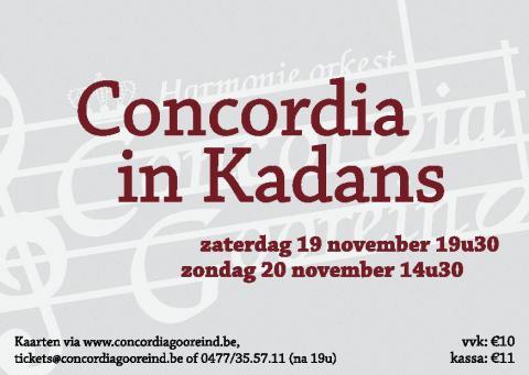 Flyer Concordia in Kadans 2016